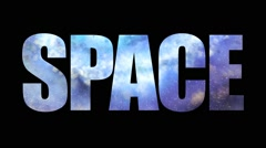 Word space with a flying inside the galaxy. Flying through the universe - stock footage