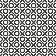 Hand drawn geometric seamless ink pattern with brush strokes. Wrapping paper - stock illustration