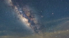Milky Way Galaxy, Stars, Space,Time Lapse-4K - stock footage