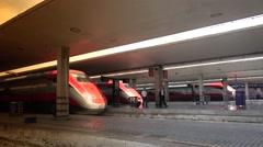 Santa Maria Novella railway station in Florence, ULTRA HD 4k, real time Stock Footage