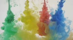 Bright colorful background. Vivid Liquid ink colors blending in water Stock Footage