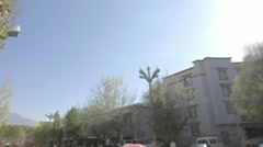 Tibet, Lhasa, A lot of people walking on the street in Tibet - stock footage