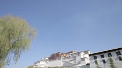 Potala place in Lhasa. Monastery in Tibet. View at the Potala - stock footage