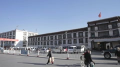 Tibet, Lhasa,Some buildings in the Tibet - stock footage