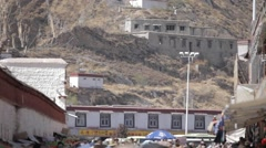 Tibet, Lhasa,Local residents in Lasa, China Stock Footage