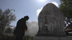 China, Tibet, Lhasa, Buddhist religious practices and traditions Stock Footage