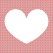 Cross-stitch background with heart Stock Illustration