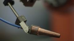 Pan over robotic arm - stock footage