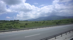 The car rides on the autobahn in Greece Stock Footage