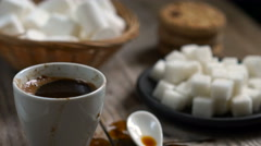 Two cups of hot coffee Stock Footage