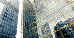Elevators and glass walls in the City of London Stock Footage