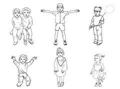 Vector illustration of a set of children Stock Illustration