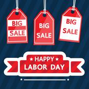 Happy labor day. - stock illustration
