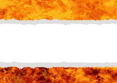 FLames With Tear Copy Space Stock Illustration