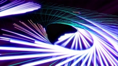 Glow lines seamless animation background. Stock Footage
