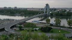 Bratislava, Slovakia city traffic Stock Footage