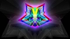 Prism-Pyramidal Kaleidoscopic Pattern Stock Footage