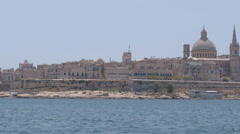 A wider panorama of Valletta from Sliema Malta Stock Footage