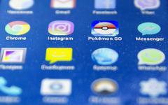 Pokemon Go game Stock Photos