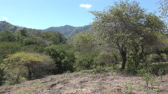 4k Komodo island national park landscape panning Stock Footage