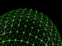 Futuristic virtual technology background, digitally generated image. Stock Illustration