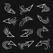 Handmade Arrow set Stock Illustration