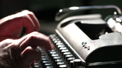 Hands Typing on Vintage Typewriter Stock Footage