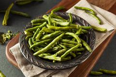 Healthy Nutritious Dehydrated Green Bean Chips Stock Photos