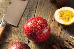 Fresh Raw Organic Passion Fruit - stock photo