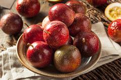 Fresh Raw Organic Passion Fruit Stock Photos