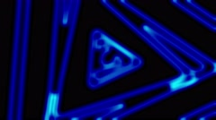 Neon triangles animation. 128 bpm. Stock Footage