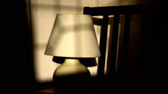 Light moving along a lamp´s surface. Timelapse Stock Footage