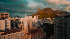 Sunny Church and buildings in Rio Stock Footage