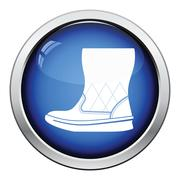 Woman fluffy ugg boot icon Stock Illustration