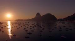 Pão De Açucar - Sunrise - Rio de Janeiro 2016 Stock Footage