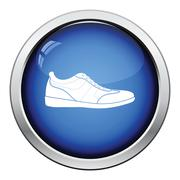 Man casual shoe icon Stock Illustration
