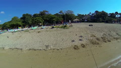 Sanur beach, aerial shot Stock Footage