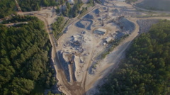 Aerial view of a sandstone quarry Stock Footage