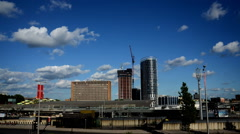 East London. Stratford skyline Timelapse Stock Footage