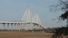 Ravenel Bridge. Charleston, South Carolina Stock Footage