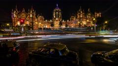 Chhatrapati Shivaji Terminus railway station, Victoria Terminus, Mumbai 4K  Stock Footage
