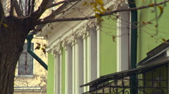 Old Building Fragment in Moscow Stock Footage