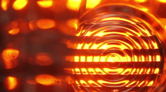 Car turn signal flashing. close-up Stock Footage