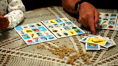 Card Game Loteria Stock Footage