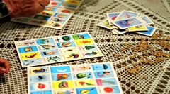 Game Card Loteria Stock Footage