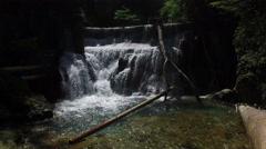 4K. View of Waterfall in Vintgar Gorge on Radovna river. Stock Footage