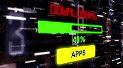 Downloading apps over binary data - stock footage