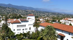 Beautiful Santa Barbara sightseeing Stock Footage