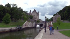Rideau Canal Lock system - stock footage