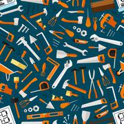 Construction and repair tools seamless wallpaper Stock Illustration